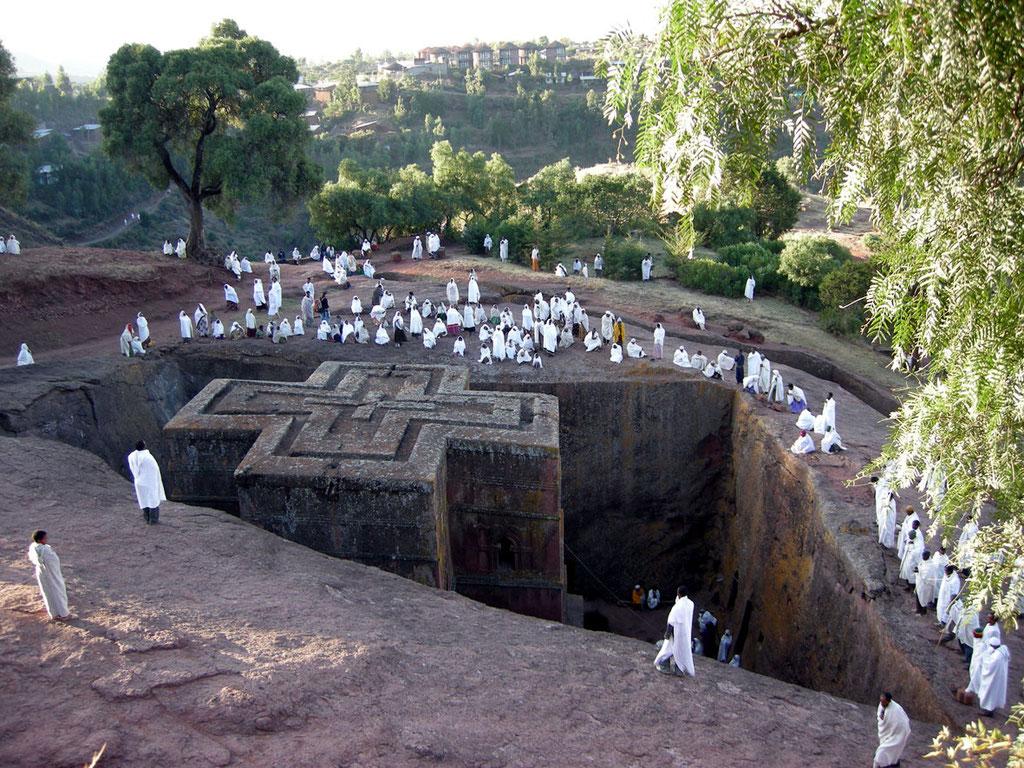 Äthiopien: Felsenkirchen von Lalibela