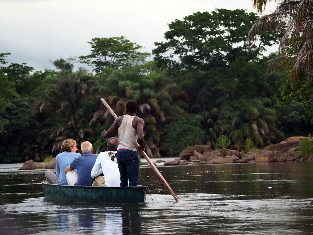 Sierra Leone: auf der Suche nach Zwerg-Flusspferden rund um Tiwai Island