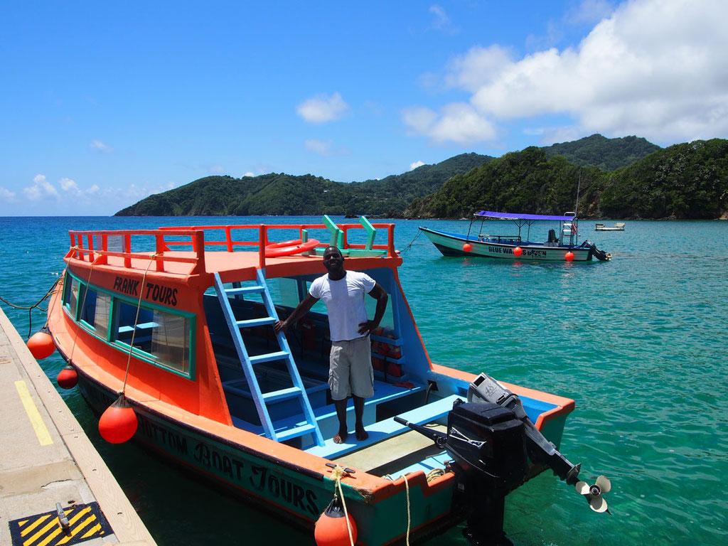 Tobago: Ausflug zur Vogelschutzinsel Little Tobago mit dem Glasbodenboot