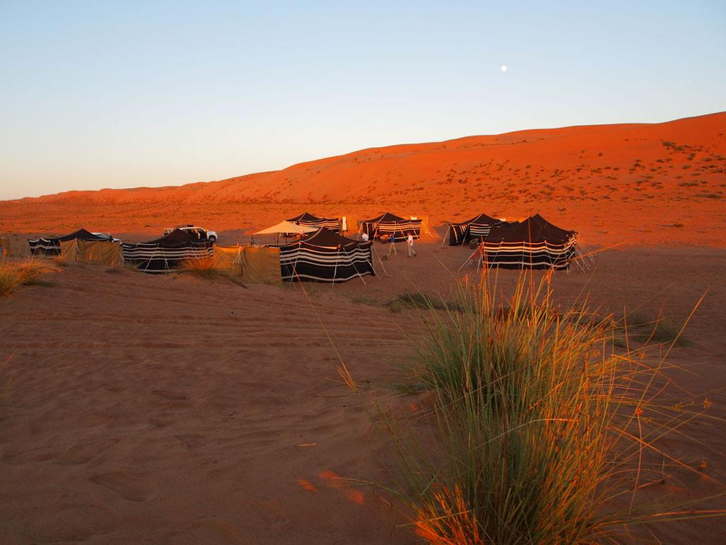 Oman: Hod Hod Wüstencamp in der Sandwüste Wahiba Sands