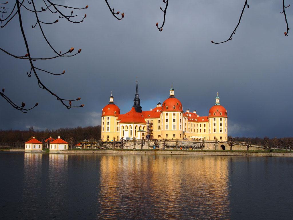 """Schloss Moritzburg: hier wurde """"Drei Nüsse für Aschenbrödel"""" gedreht"""