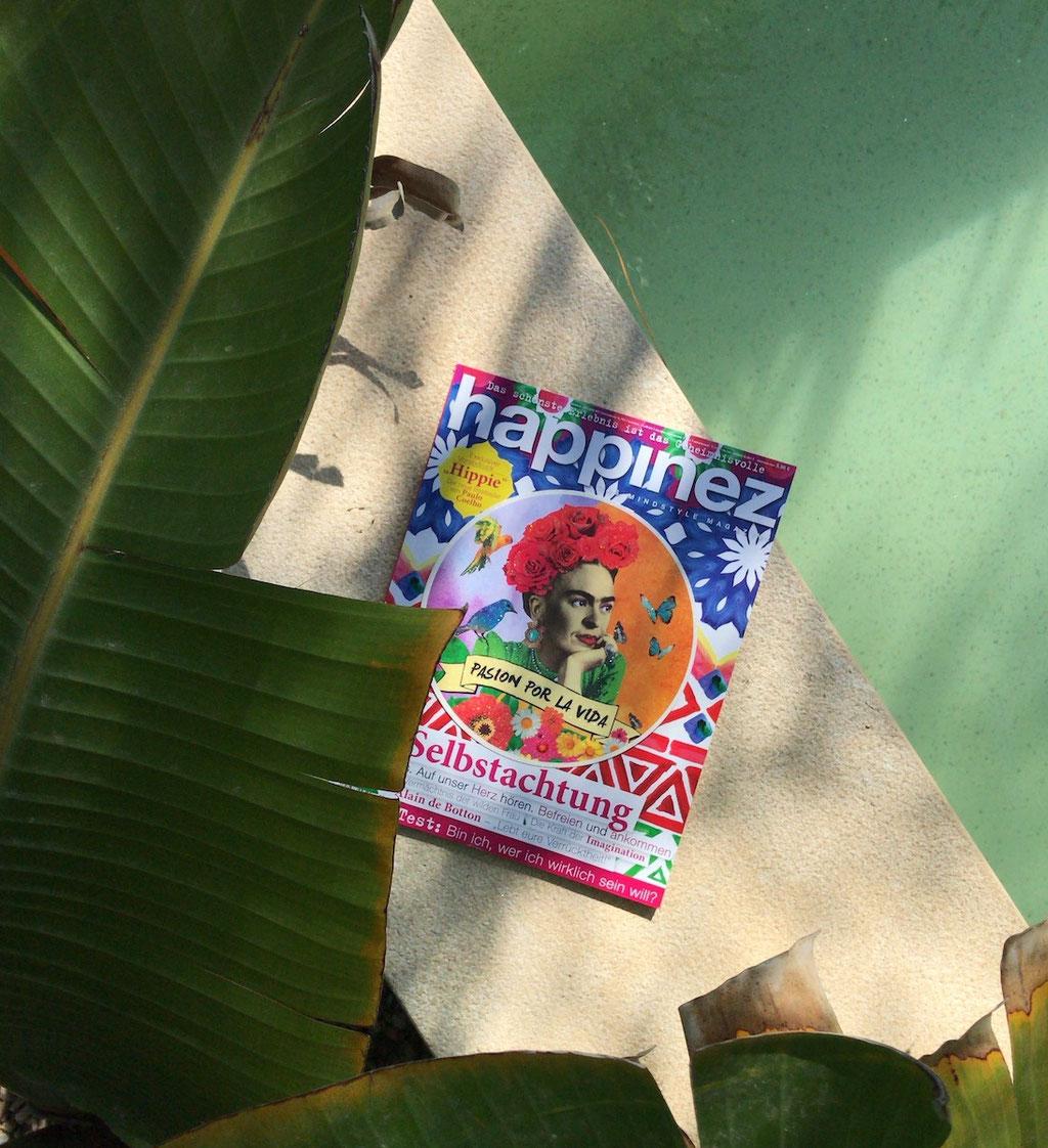sustainable start-up hejhej-mats got featured in german happinez magazine.