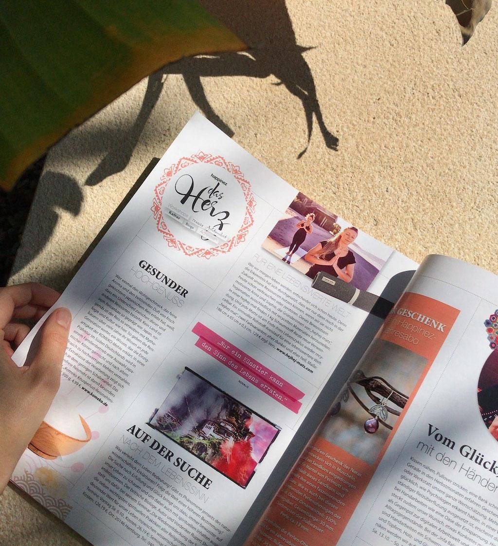 Artikel über hejhej-mats im deutschen happinez Magazin.