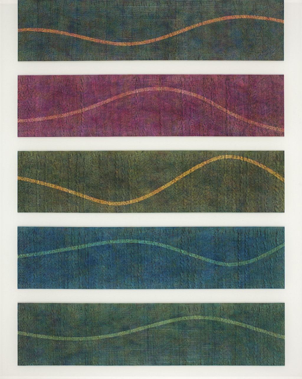 T.Wave:0002 - acrylic on acrylic sheet - 50 x 40 cm