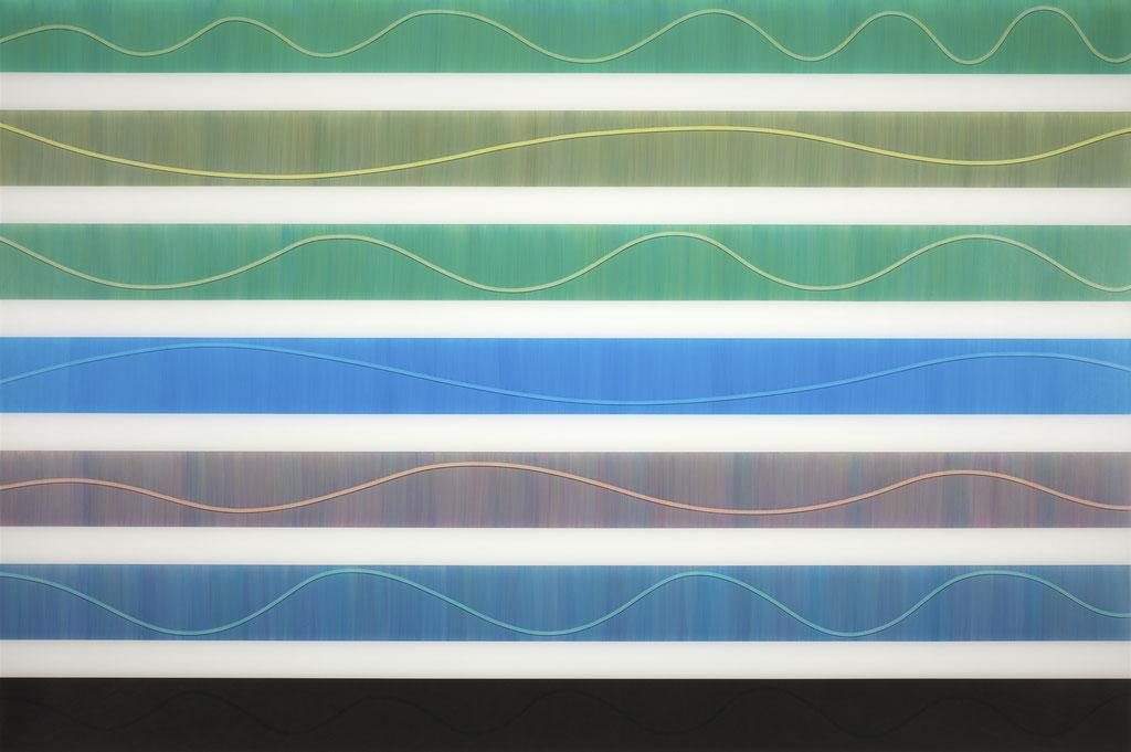 T.Wave:0004 - acrylic on acrylic sheet - 100 x 150 cm