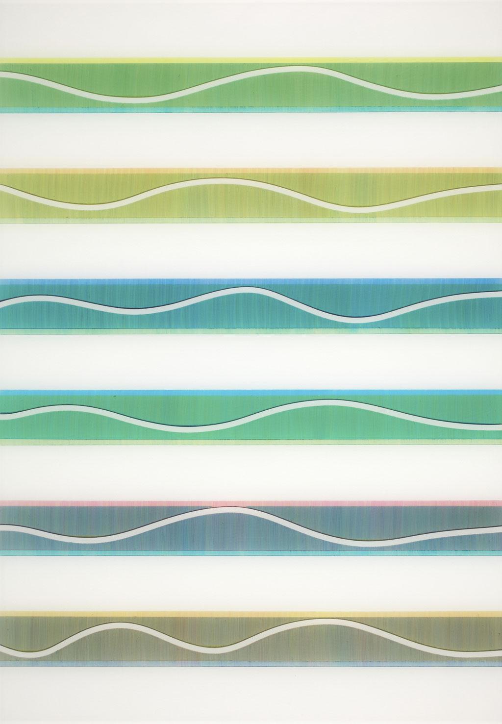 T.Wave:0001 - acrylic on acrylic sheet - 66 x 46 cm