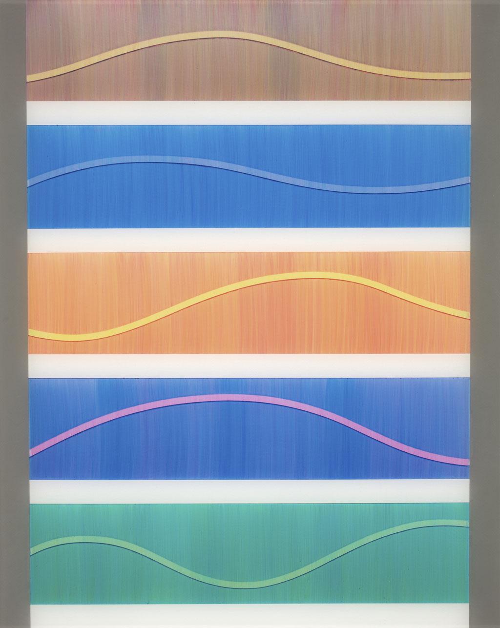 T.Wave:0003 - acrylic on acrylic sheet - 50 x 40 cm