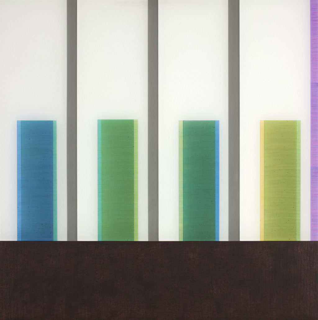Manifold:0011 - acrylic on acrylic sheet - 40 x 40 cm