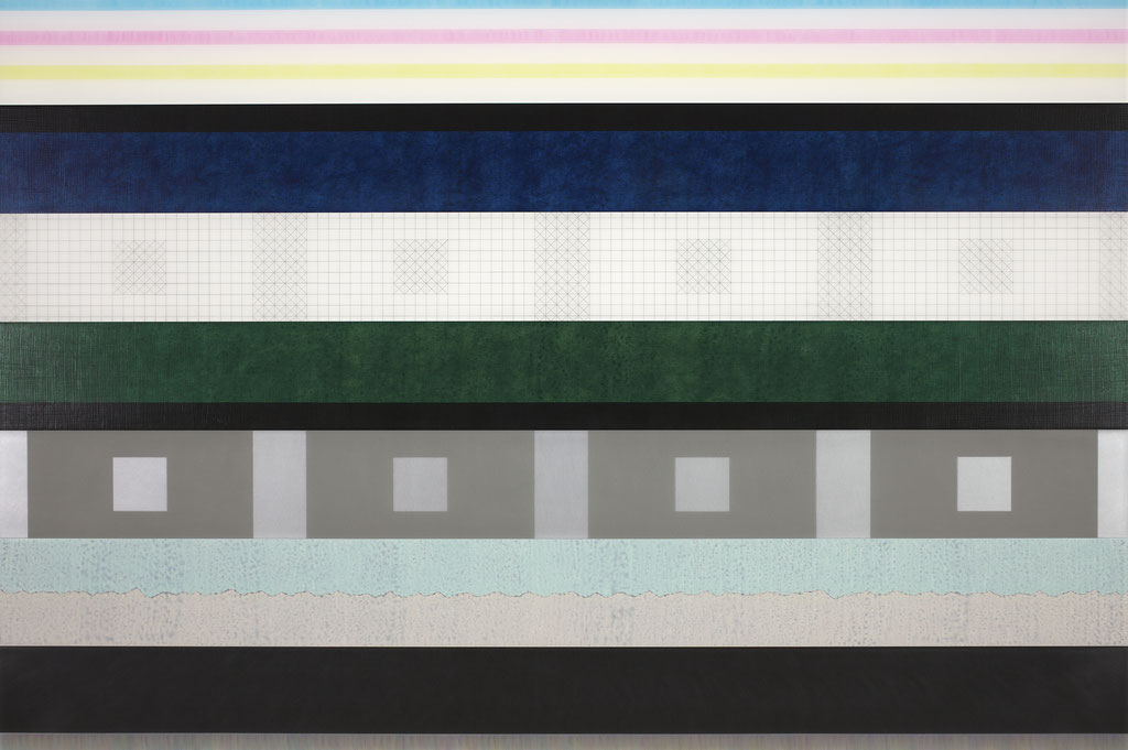 Manifold:0004 - acrylic on acrylic sheet - 70 x 1050 cm
