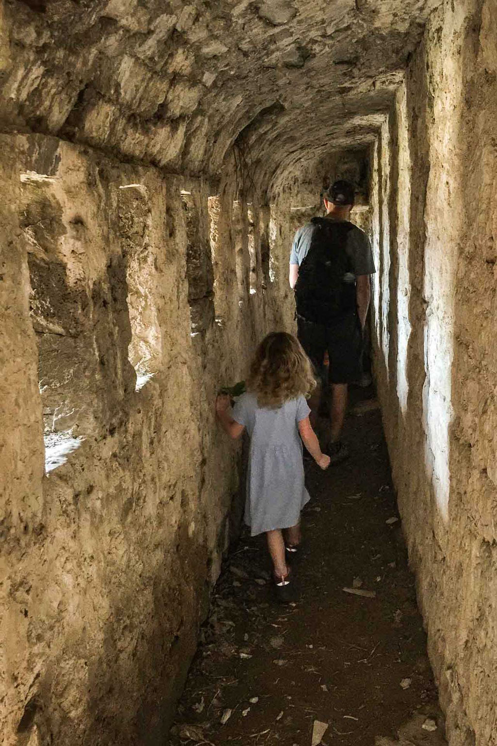 Exploring caves at Klis Fortress