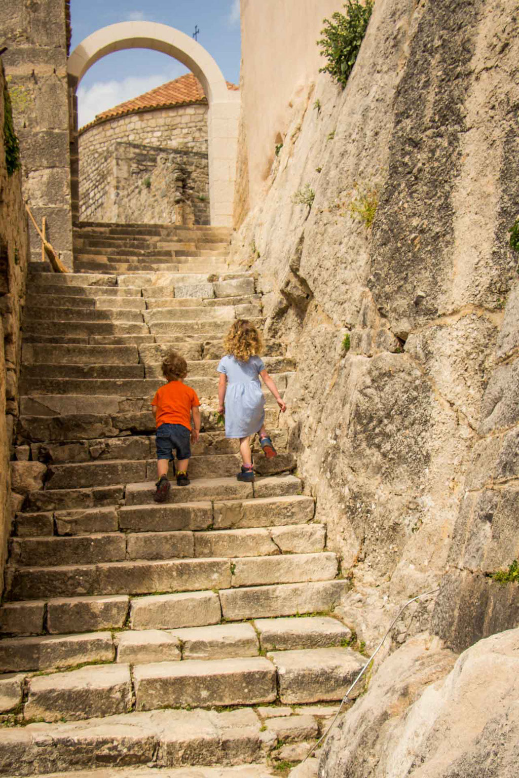Kids at Klis Fortress