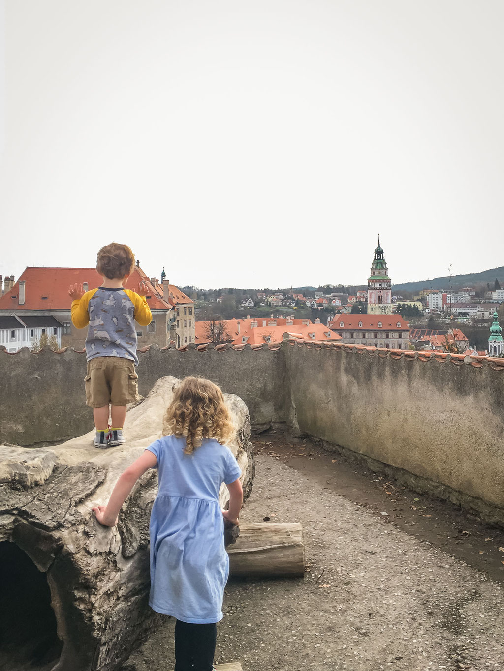 Cesky Krumlov Castle Gardens with Children