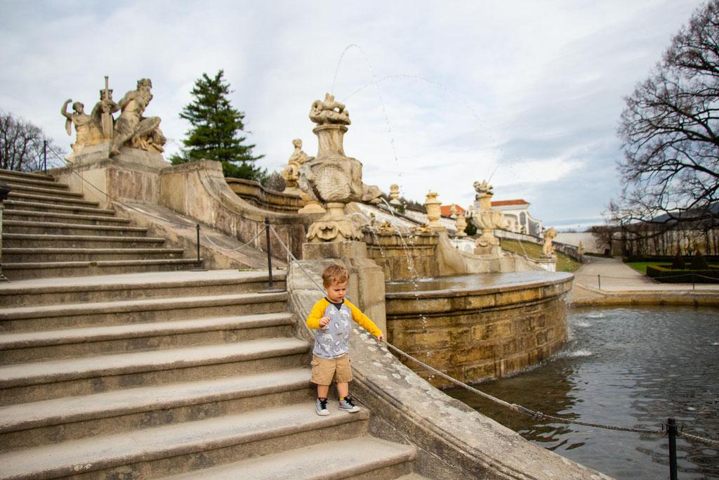 Cesky Krumlov Castle Gardens with Kids