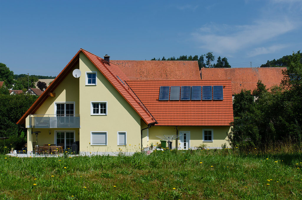 Solarthermie in Abtsgreuth, Mfr.