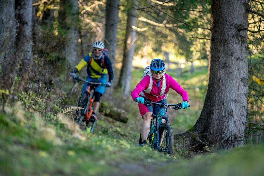 Mountainbike Touren mit den verschiedensten Schwierigkeitsgraden