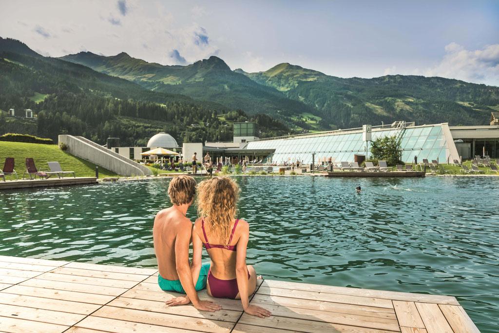 Europas erste Thermalwasserbadeseen in unserer Alpentherme