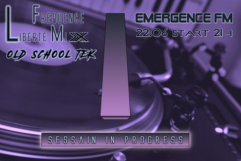 Emergence Radio Dj Set - Techno - Flyer