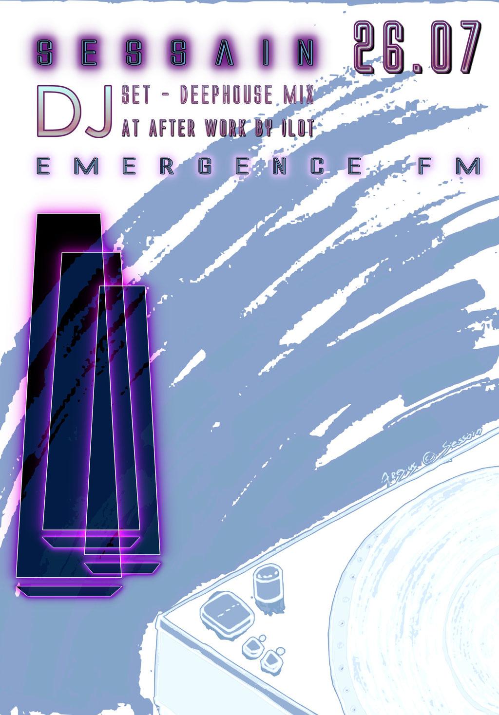 "Dj set live at ""AFTER WORK"" the 26th July 2018 - Flyer"