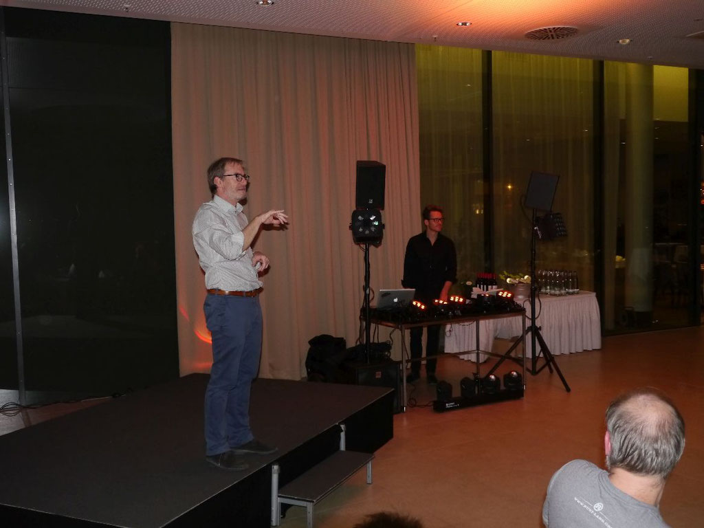 5. DeafIT Jubiläumsfeier: Tobias Burz (links) & DJ Marc Aurel (rechts)
