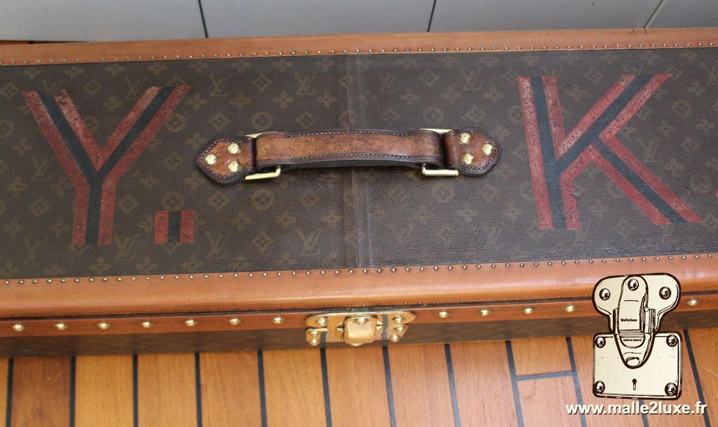 Malle Louis Vuitton canne à pêche poignée dessus
