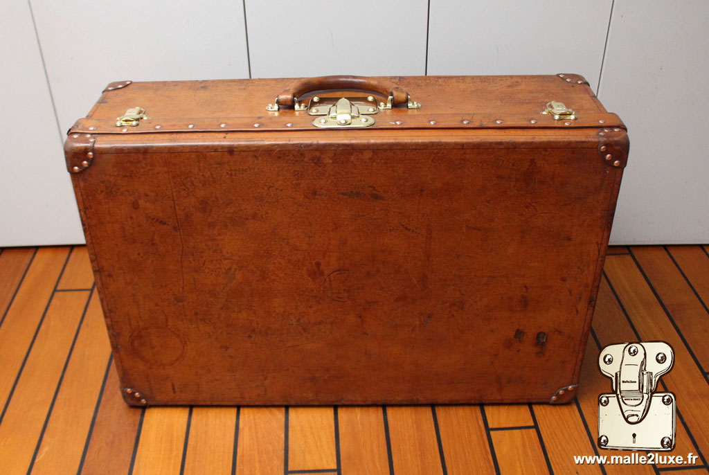 Valise Louis Vuitton alzer cuir red nail