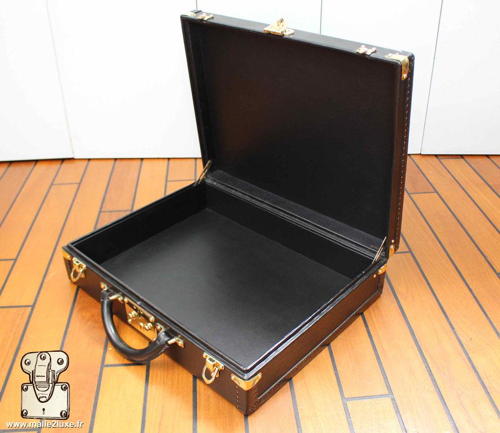 Valise président Louis Vuitton cuir epi noir