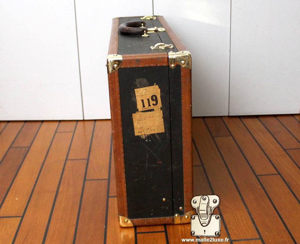 Valise bisten Louis Vuitton étiquette ancienne