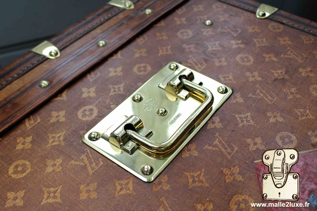 Malle courrier louis vuitton laiton