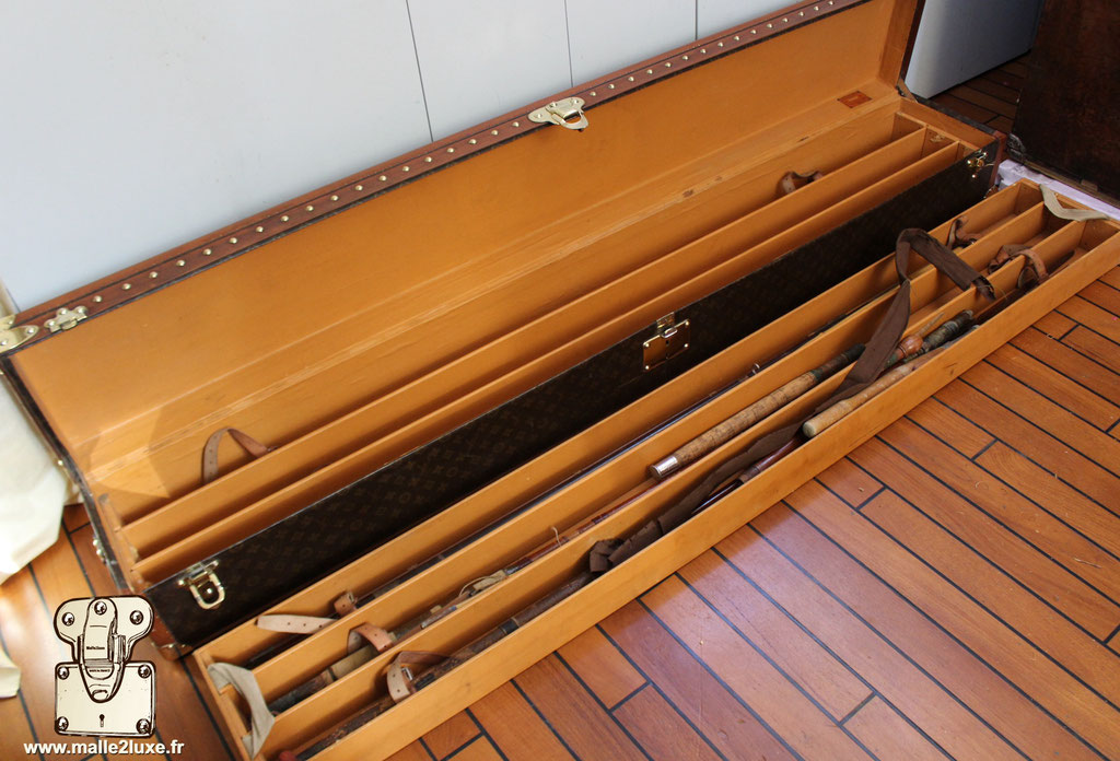 Louis Vuitton trunk longest fishing rod in the world