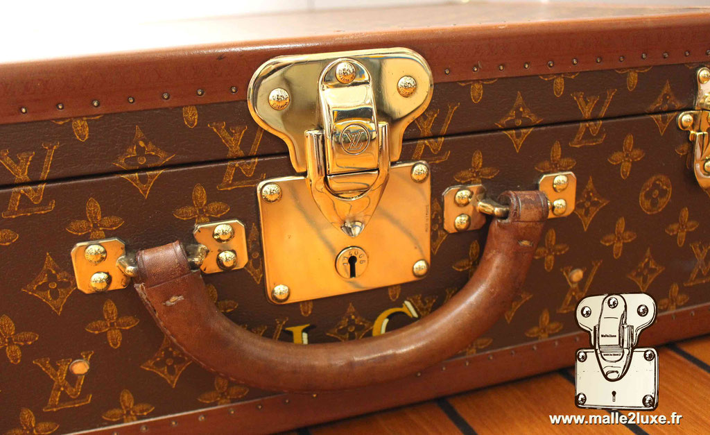 Valise bisten Louis Vuitton 1955 Serrure laiton 50