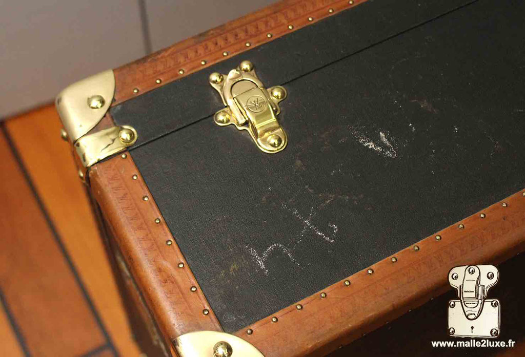 Valise bisten Louis Vuitton 70 fermoir laiton