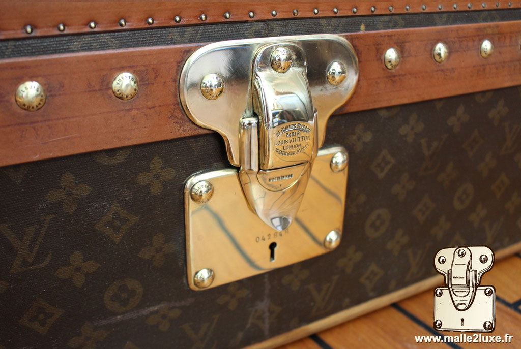 Louis Vuitton trunk with solid brass lock