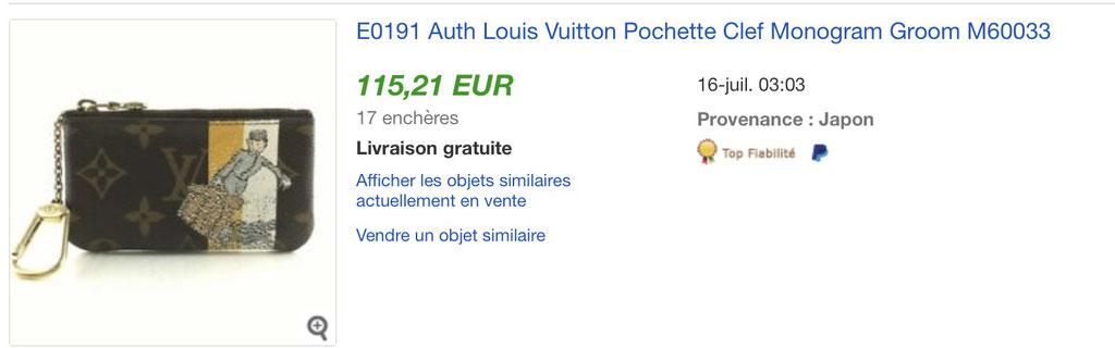 Louis Vuitton Groom édition limitée Ebay prix