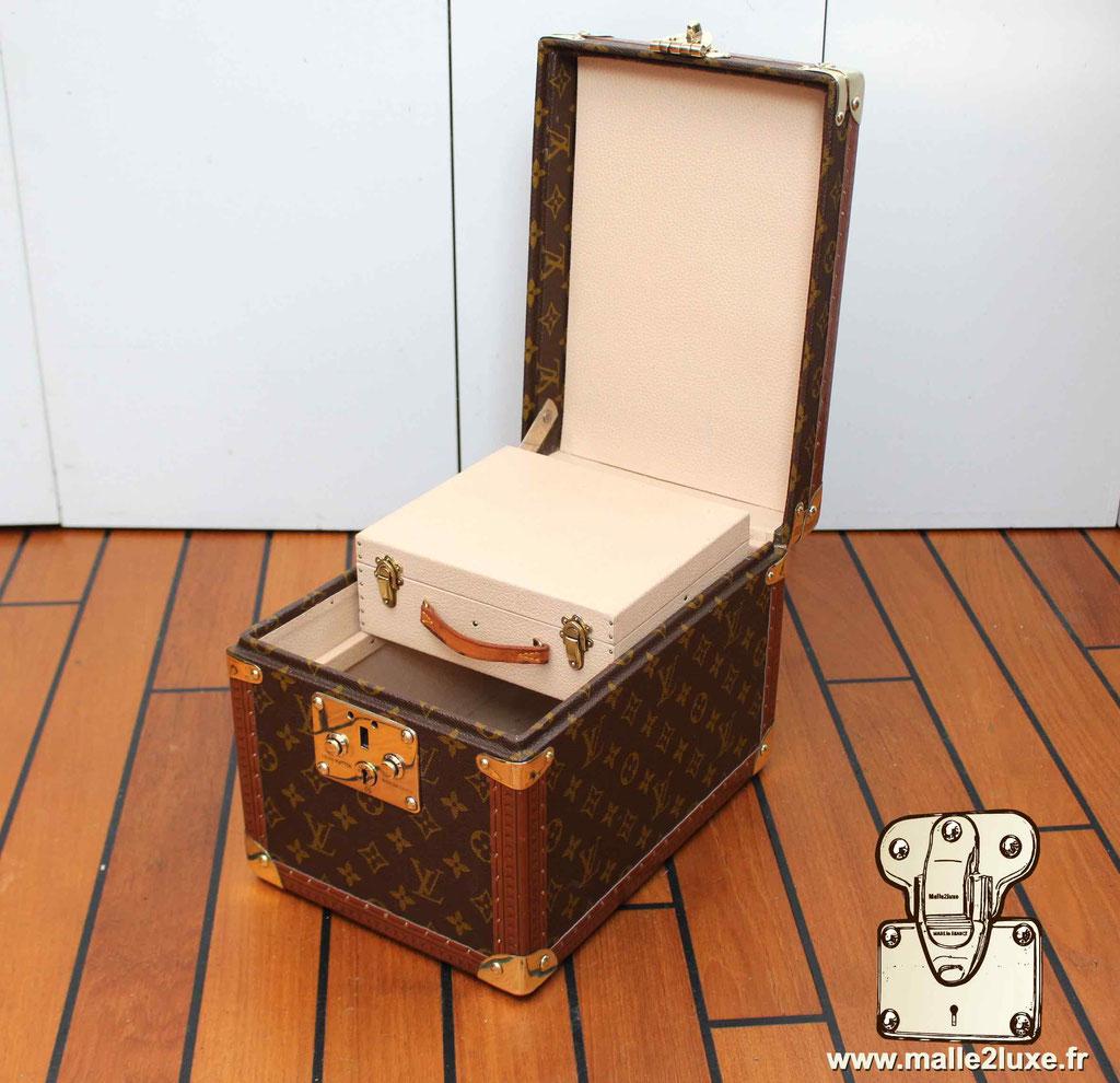 Vanity Louis Vuitton vintage intérieur petite boite miroir