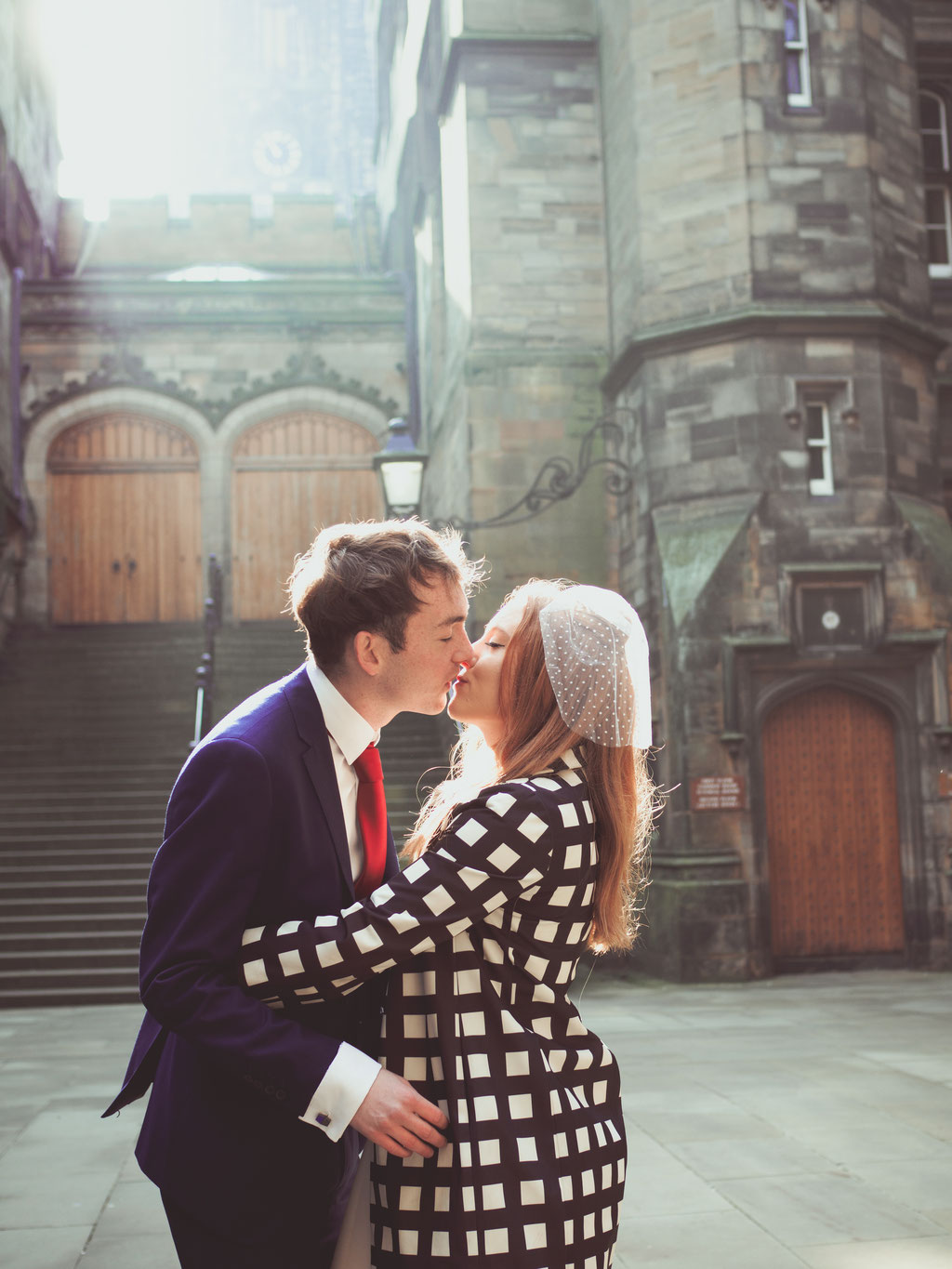 urban elopement photography wedding edinburgh