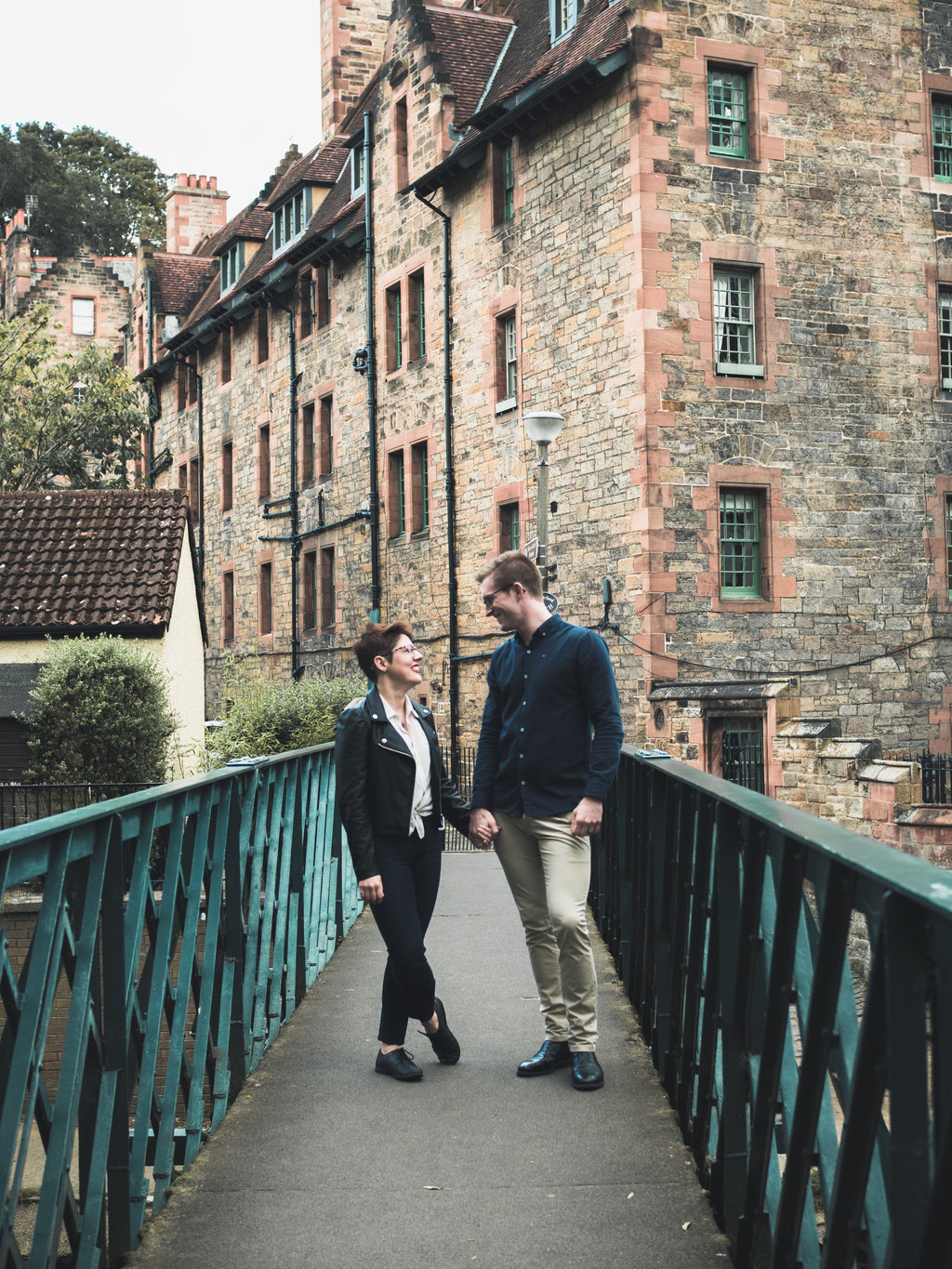 couple photography edinburgh dean village
