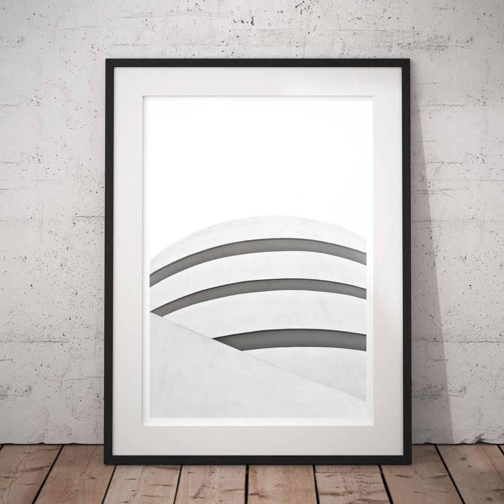 Minimal Art print 'White' Guggenheim, NY by PASiNGA