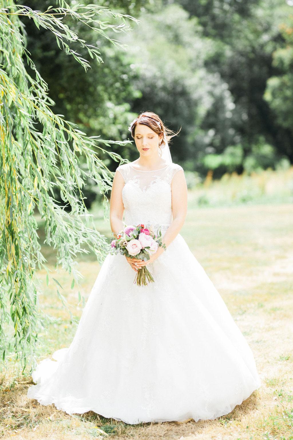 Manoir  de la fresynaye mariée mariage Bretagne Orlane Boisard mariée