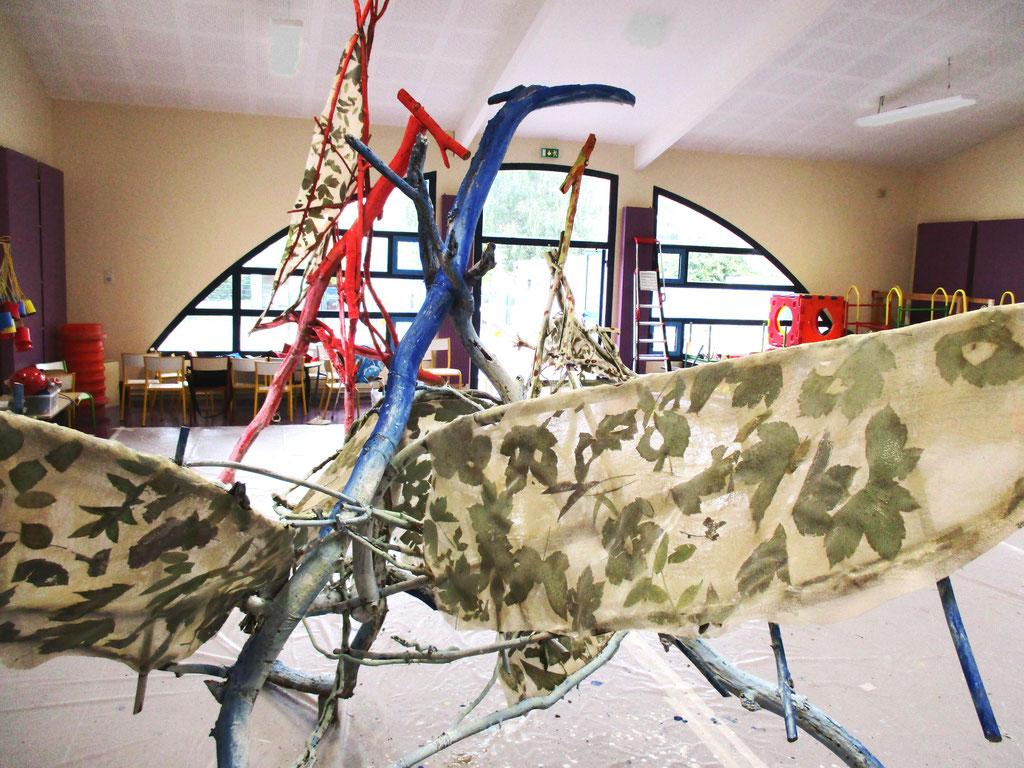 Vue d'atelier...dans le gymnase - Roman Gorski, maternelle l'Allée couverte, Vaureal