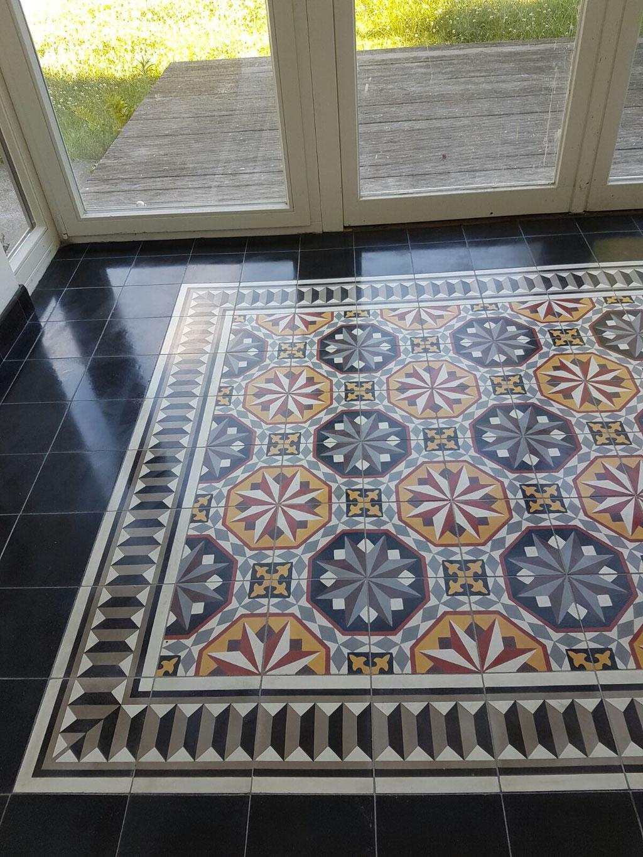 Zementfliesen, Sonderproduktion von Southern Tiles, Format: 20x20 cm