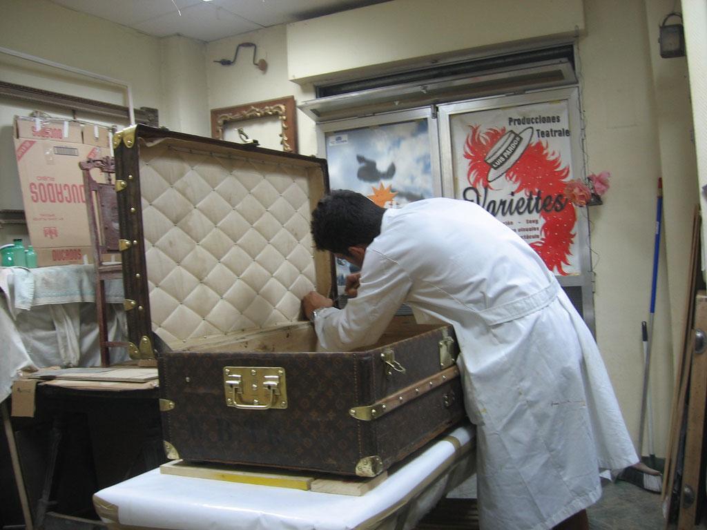 Restauración baúl de viaje Louis Vuitton