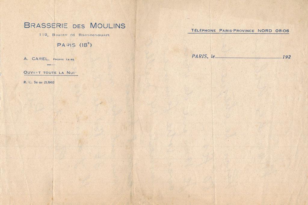 Jules Pascin : lettre autographe signée