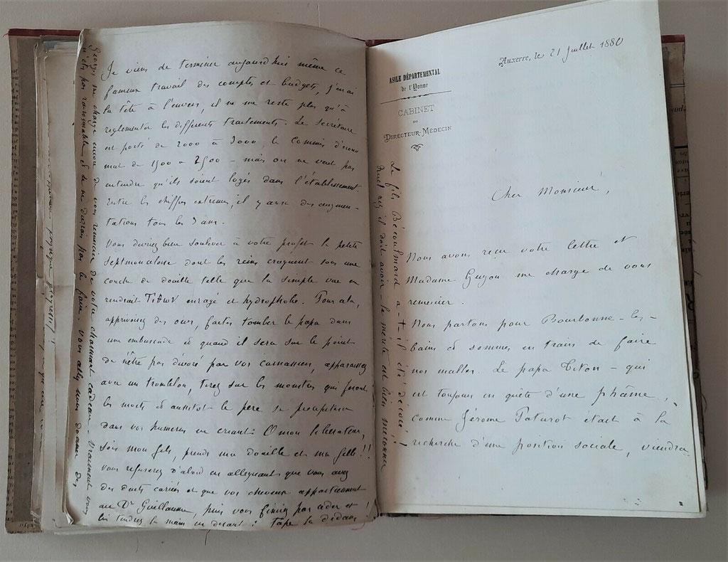 Ernest Rousseau, correspondance autographe signée