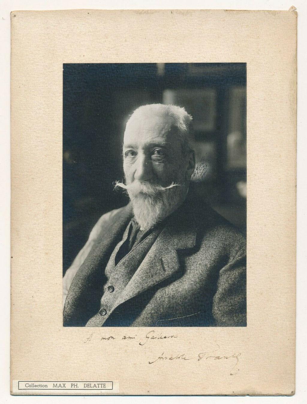 Anatole France portrait photographique signé et dédicacé