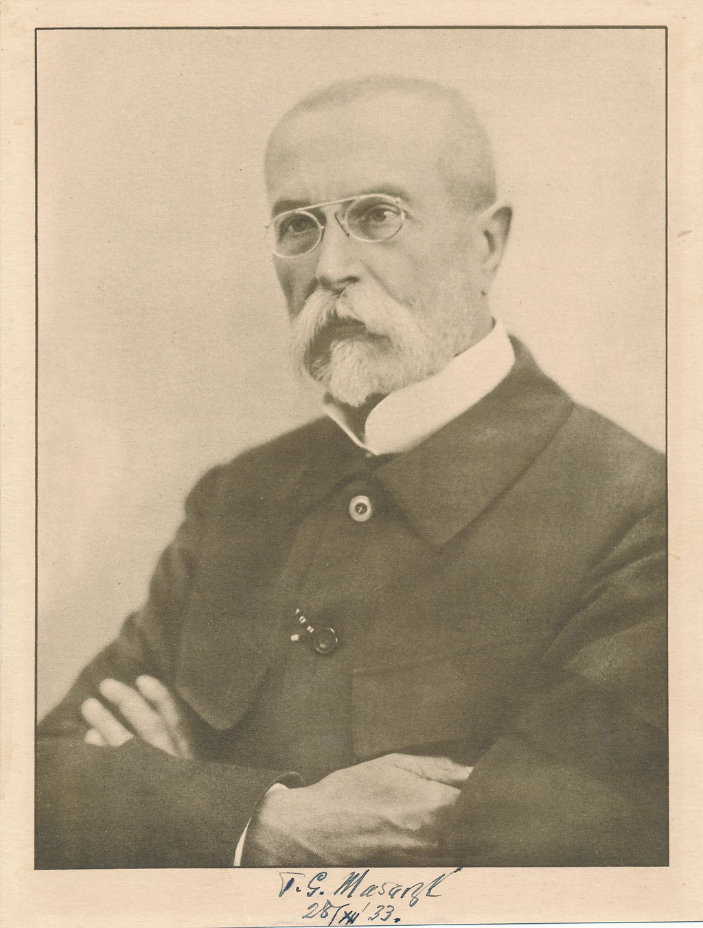 Tomáš Garrigue MASARYK signature autographe photo photographie