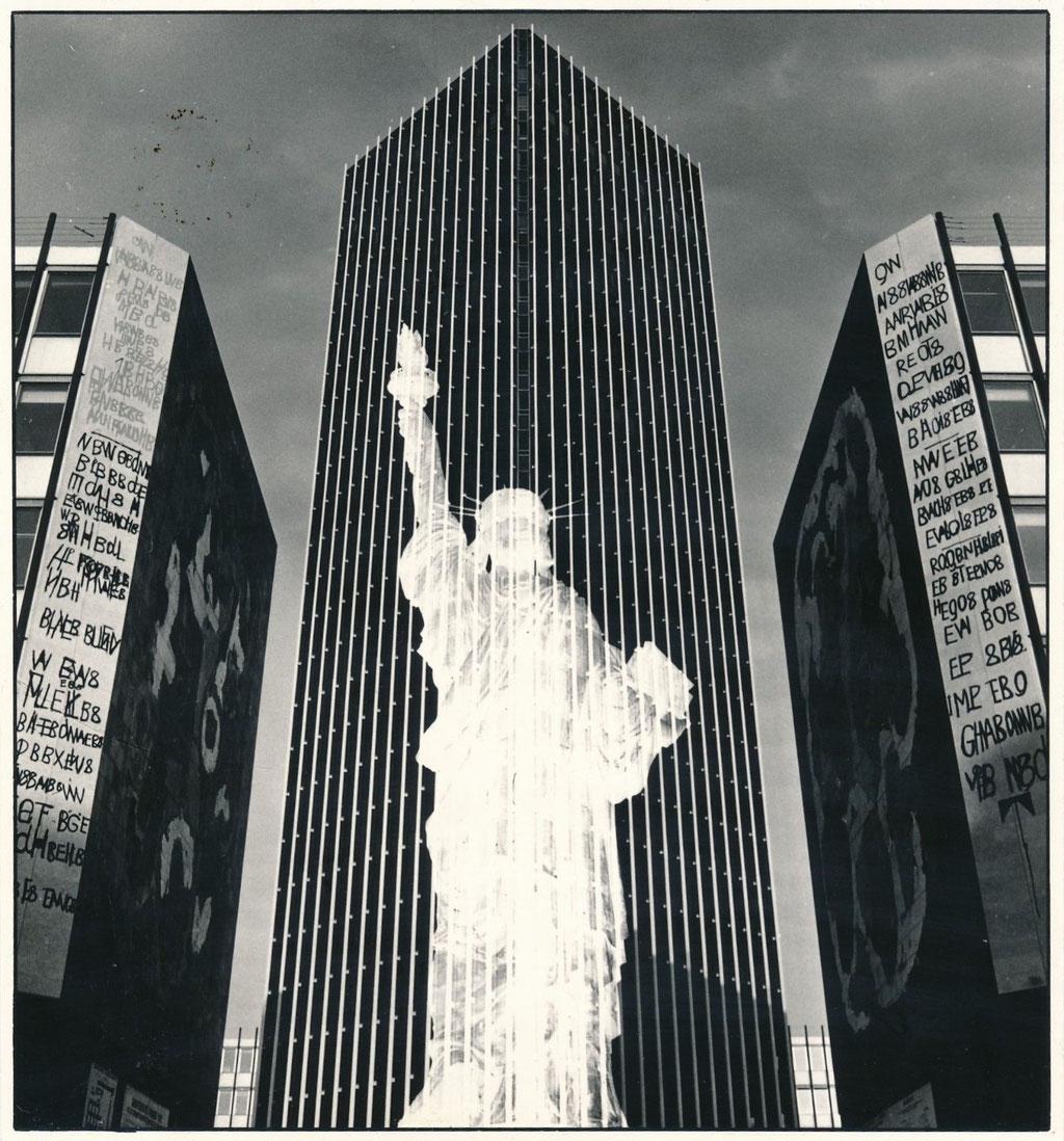 Photomontage statue de la Liberté