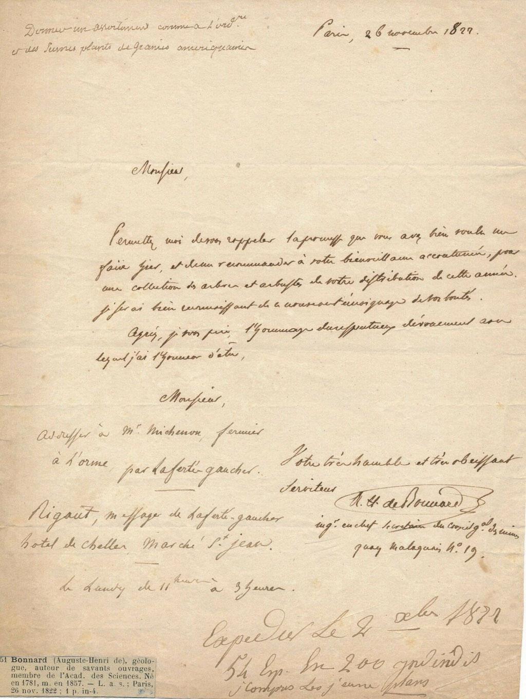 Auguste Henri de Bonnard, géologue