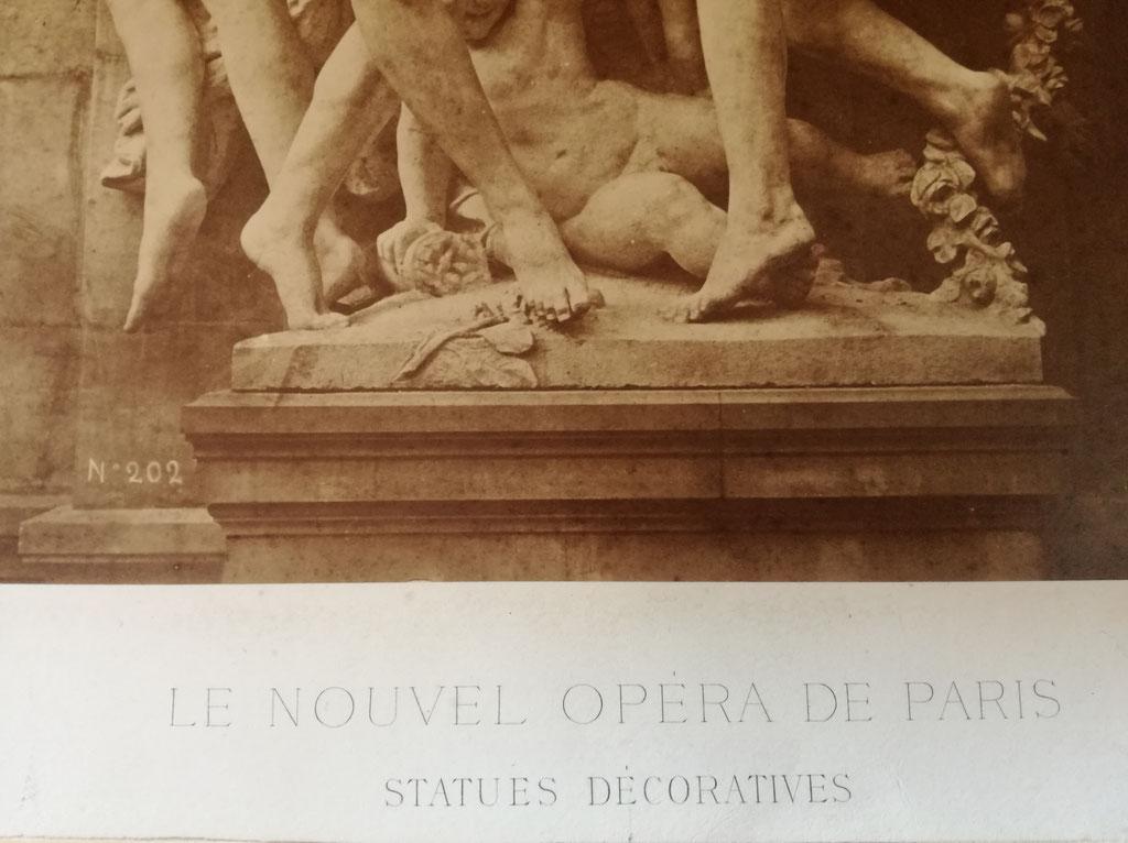 Louis-Émile Durandelle (1839-1917) tirage sur papier albuminé opéra décor