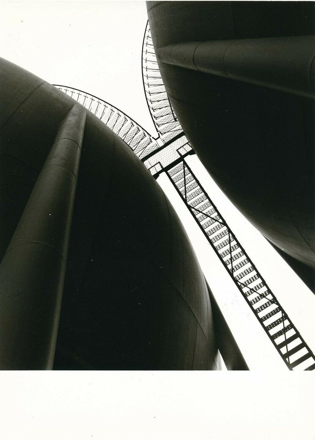 Photographie, sphères de stockage au Havre