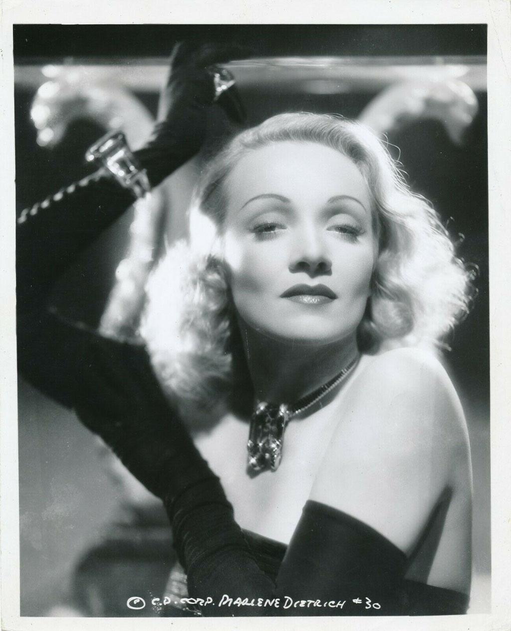 portrait photographique de Marlène Dietrich